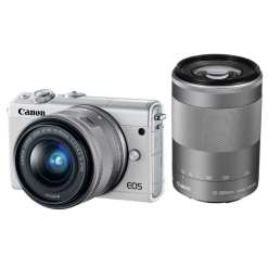 Canon EOS M100 Mirrorless Digital Camera with 15 45mm and 55 200mm Lenses White 01 - Canon EOS M100 Mirrorless Digital Camera with 15-45mm and 55-200mm Lenses (White)