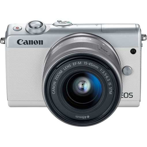 Canon EOS M100 Mirrorless Digital Camera with 15 45mm and 55 200mm Lenses White 05 - Canon EOS M100 Mirrorless Digital Camera with 15-45mm and 55-200mm Lenses (White)