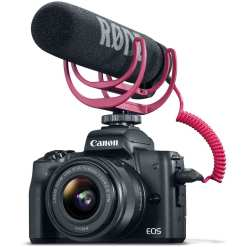 Canon EOS M50 Mirrorless Digital Camera with 15 45mm Lens Video Creator Kit Black 01 - Canon EOS M50 Video Creator Kit with EF-M15-45mm Lens, 4K Video Capture, Rode VIDEOMIC GO, and 32GB Sandisk Memory Card (Black)