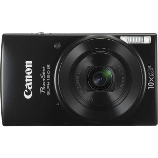 Canon PowerShot ELPH 190 IS Digital Camera Black 02 - Canon PowerShot ELPH 190 IS with 10x Optical Zoom and Built-In Wi-Fi (Black)