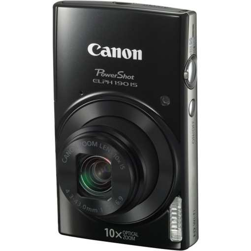 Canon PowerShot ELPH 190 IS Digital Camera Black 03 - Canon PowerShot ELPH 190 IS with 10x Optical Zoom and Built-In Wi-Fi (Black)