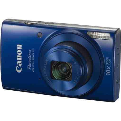 Canon PowerShot ELPH 190 IS Digital Camera Blue 01 - Canon PowerShot ELPH 190 IS with 10x Optical Zoom and Built-In Wi-Fi (Blue)