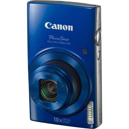 Canon PowerShot ELPH 190 IS Digital Camera Blue 03 - Canon PowerShot ELPH 190 IS with 10x Optical Zoom and Built-In Wi-Fi (Blue)