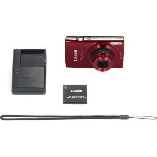 Canon PowerShot ELPH 190 IS Digital Camera Red 08 - Canon PowerShot ELPH 190 IS with 10x Optical Zoom and Built-In Wi-Fi (Red)