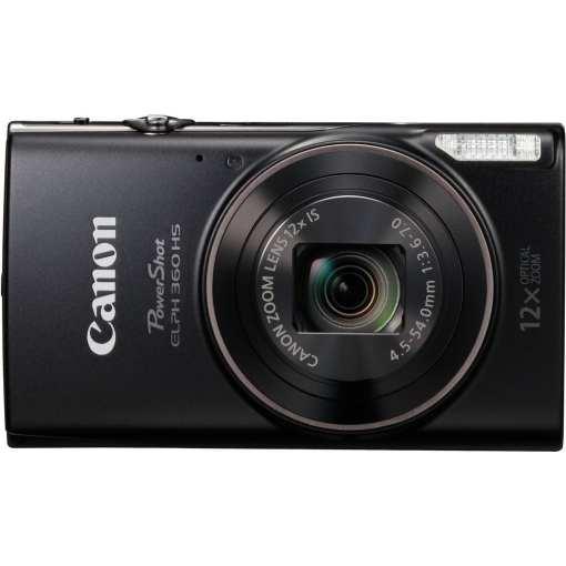 Canon PowerShot ELPH 360 HS Digital Camera Black 02 - Canon PowerShot ELPH 360 HS with 12x Optical Zoom and Built-In Wi-Fi (Black)
