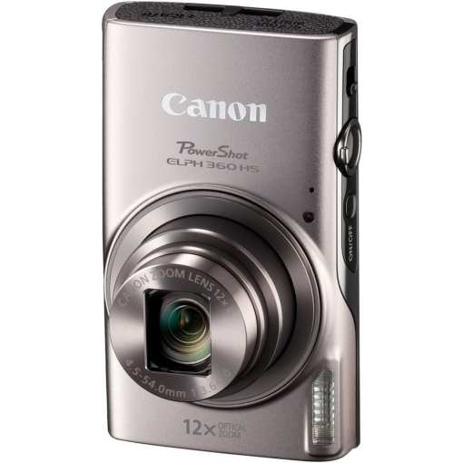 Canon PowerShot ELPH 360 HS Digital Camera Silver 03 - Canon PowerShot ELPH 360 HS with 12x Optical Zoom and Built-In Wi-Fi (Silver)