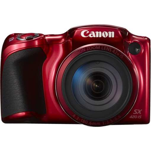Canon PowerShot SX420 IS Digital Camera Red 04 - Canon PowerShot SX420 IS with 42x Optical Zoom and Built-In Wi-Fi (Red)