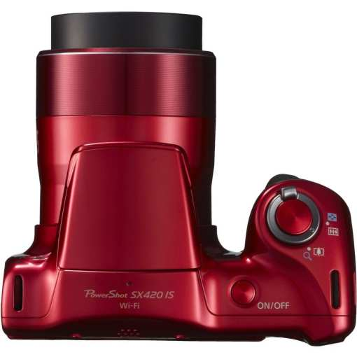 Canon PowerShot SX420 IS Digital Camera Red 07 - Canon PowerShot SX420 IS with 42x Optical Zoom and Built-In Wi-Fi (Red)