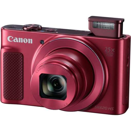 Canon PowerShot SX620 HS Digital Camera Red 02 - Canon PowerShot SX620 Digital Camera w/25x Optical Zoom - Wi-Fi & NFC Enabled (Red)