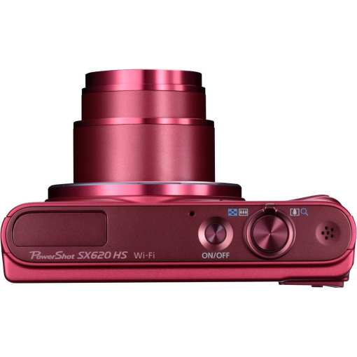 Canon PowerShot SX620 HS Digital Camera Red 06 - Canon PowerShot SX620 Digital Camera w/25x Optical Zoom - Wi-Fi & NFC Enabled (Red)