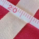 杉綾織平テープ20mm白2