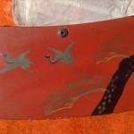 漆塗り枕3