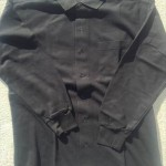 メンズ長袖シャツ黒3