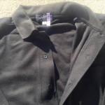 メンズ長袖シャツ黒2