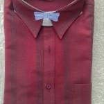 メンズ長袖シャツ赤1