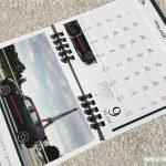 BMWミニ2017卓上カレンダー6月