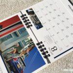 BMWミニ2017卓上カレンダー8月
