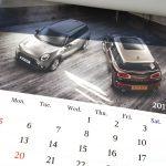 BMWミニ2017カレンダー3月