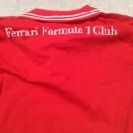 フェラーリF1ポロシャツバックプリント