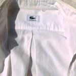 ラコステボタンダウンシャツ白襟元