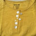 clef de sol胸元ボタン