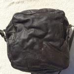 革製ミニショルダーバッグ茶色2