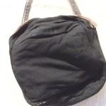 革製ミニショルダーバッグ茶色内側