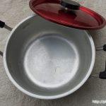 レトロなアルミ製両手鍋2