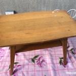 レトロな折りたたみサイドテーブル1