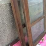 小さい透明ガラス引き違い戸天地1