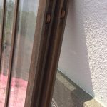 透明ガラス引き違い戸変則サイズ下部