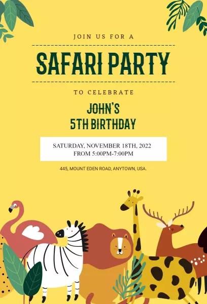 safari invitation templates photoadking