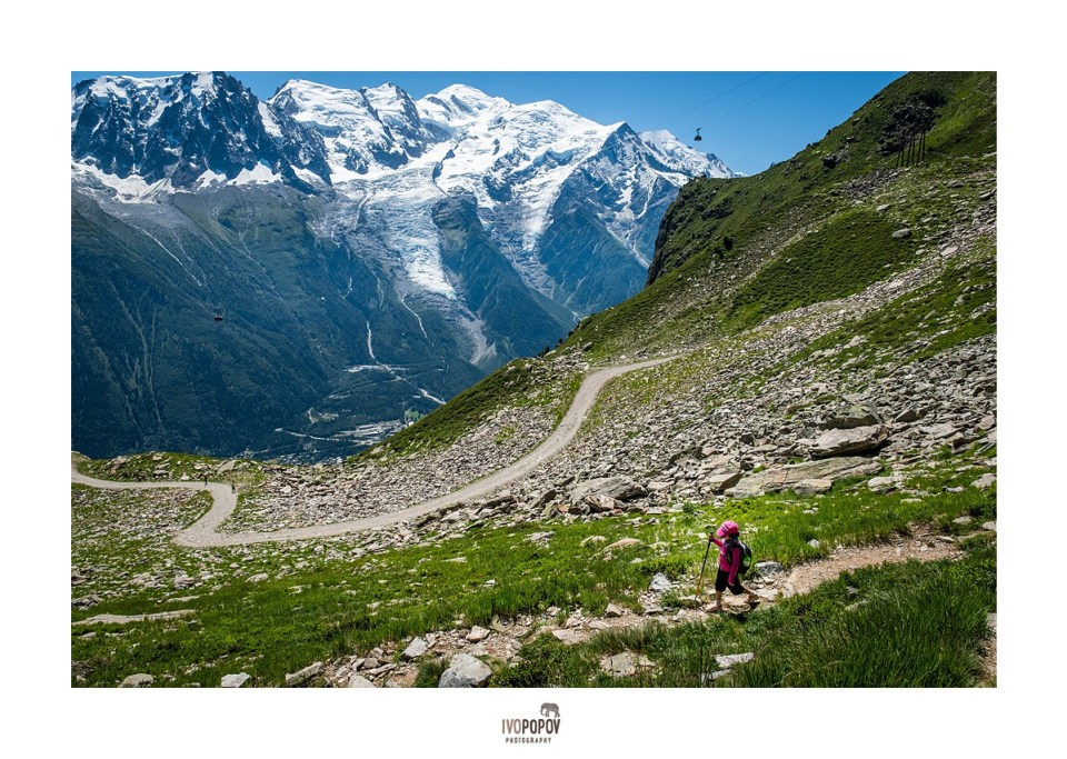 Hiking in the Mont Blanc mountain range