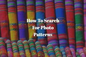 How To Search For Photo Patterns