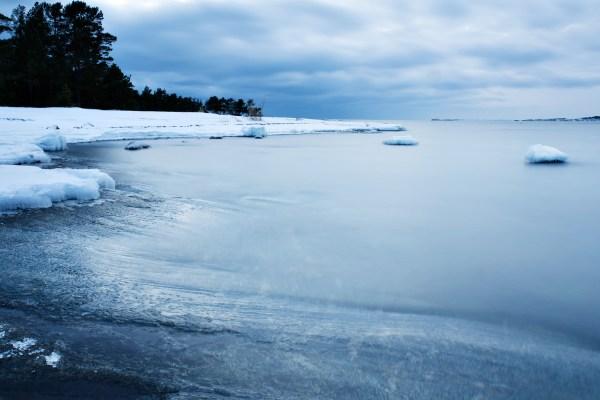 Örudden at Torö in winter.