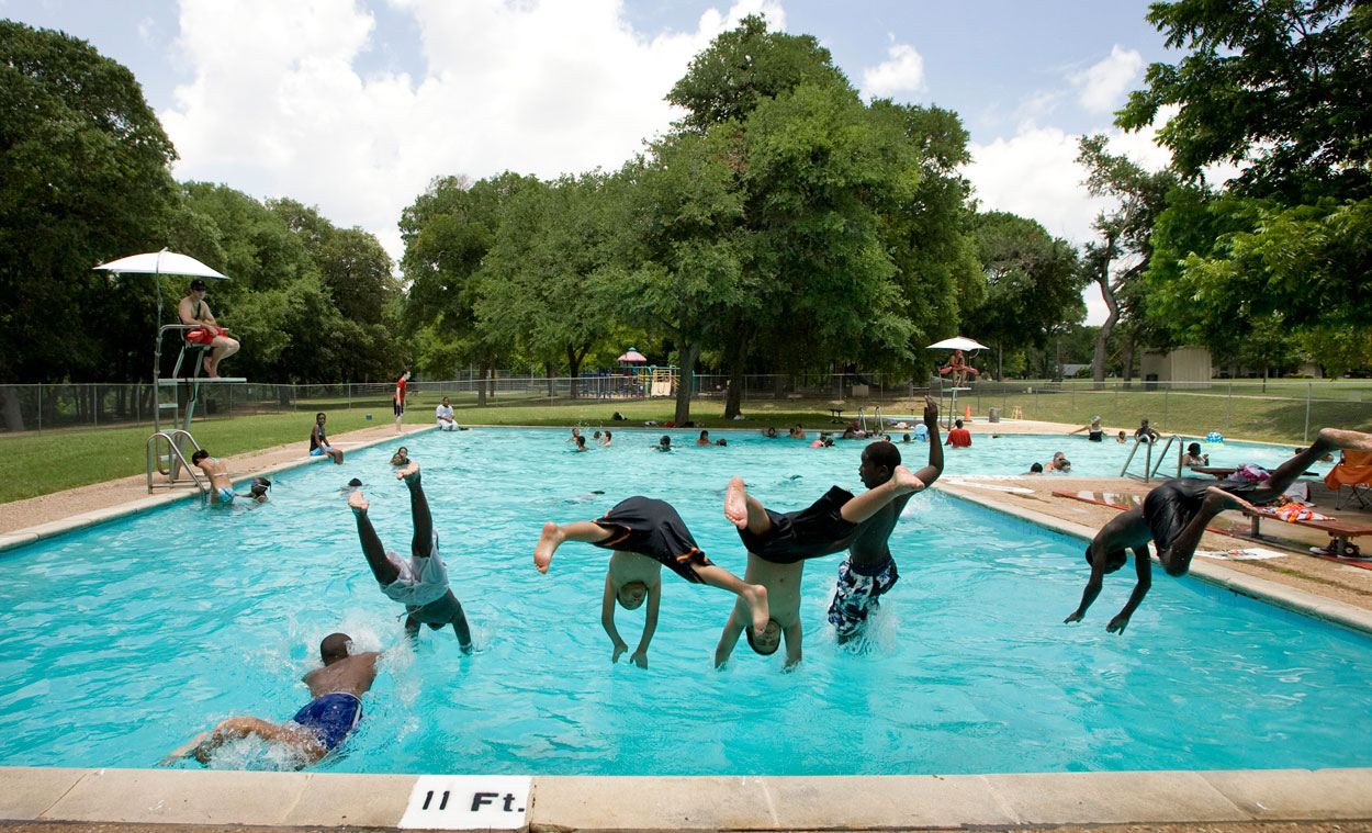 Opening day for Austins neighborhood pools  Collective