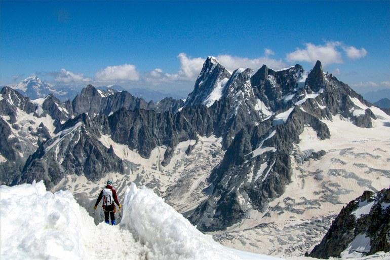 Aiguille du Midi summit Haute Route Frnace