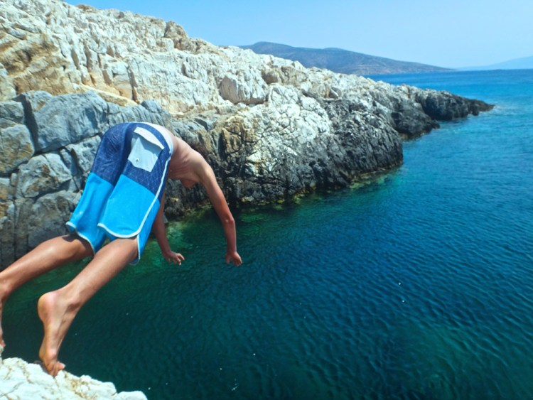 Cliff-jumping in Pyrgaki