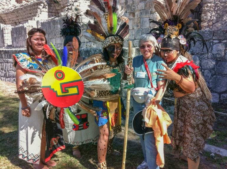 women celebrating mayan culture
