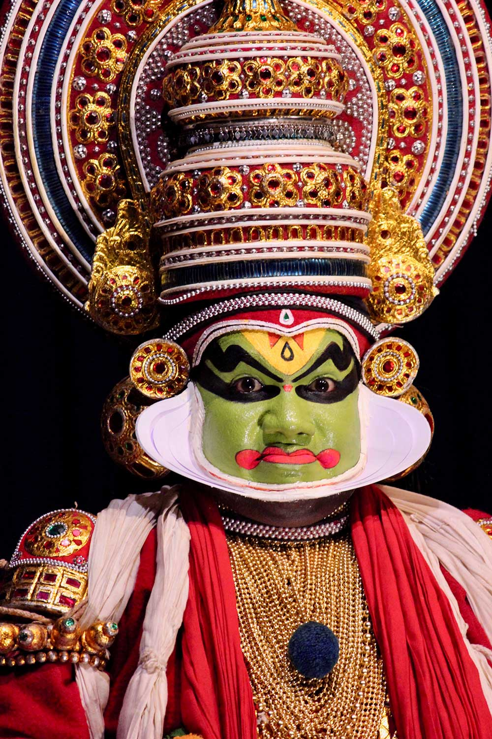 A Kathakali performer in India