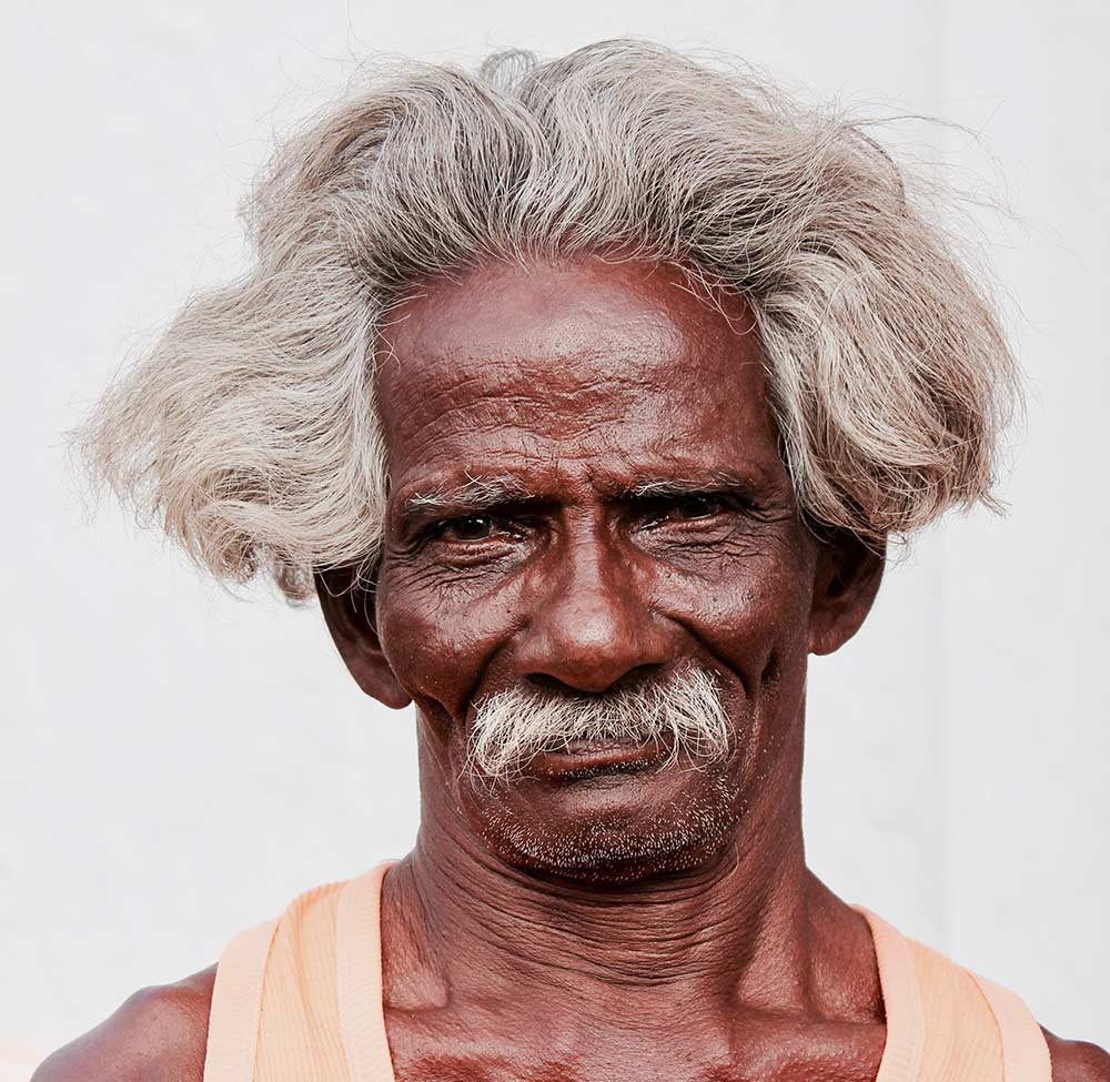 man in the Chettinad region India