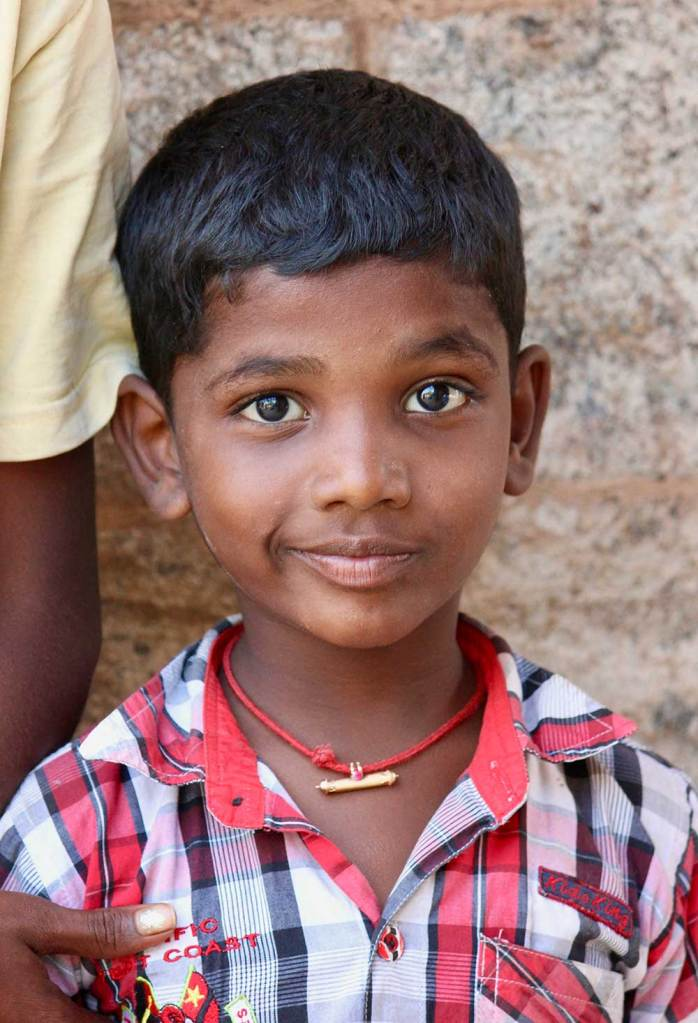 Young boy in Kumbakonam India