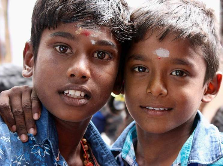 Two kid friends in India