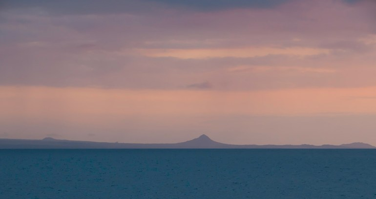 sunrise landscape in the galapagos