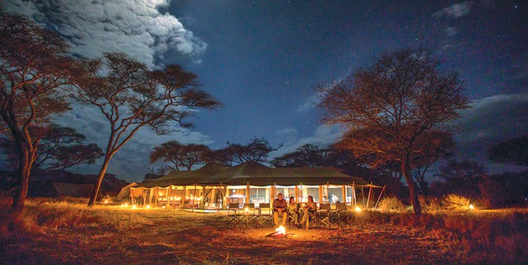 camping in the serengeti tanzania