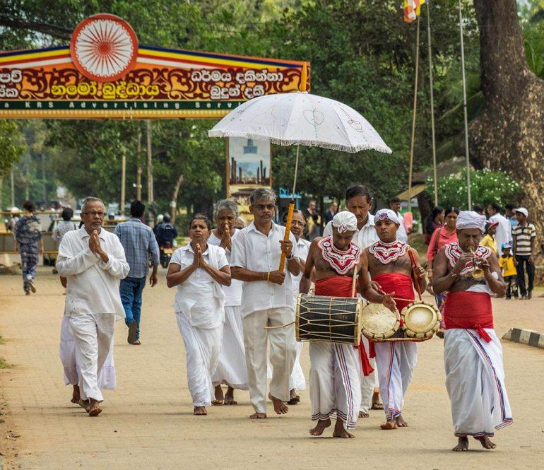 Pilgrims in Anuradhapura Sri Lanka