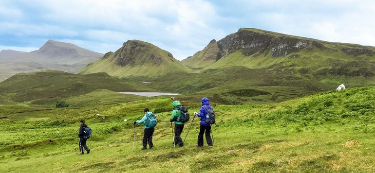 Hiking near the Quiraing Scotland