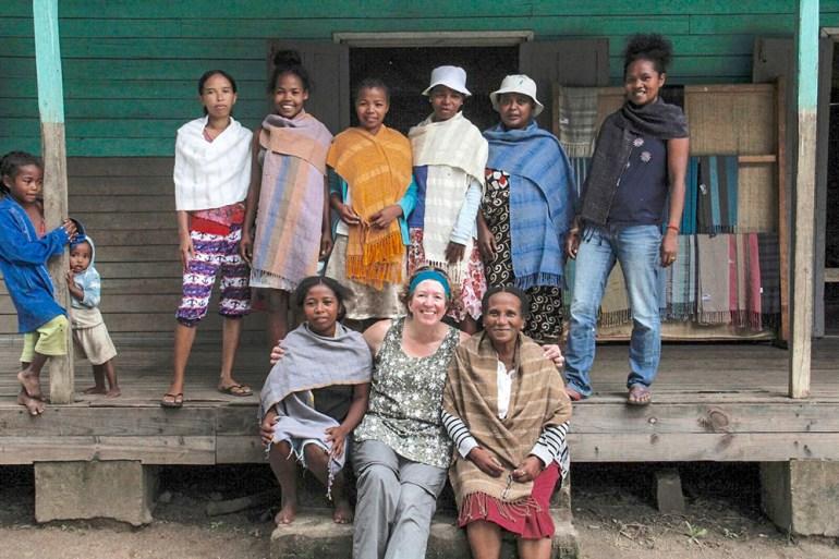 women's weaving cooperative in Madagascar