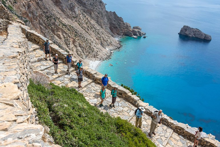 Hike in Amorgos, Greece