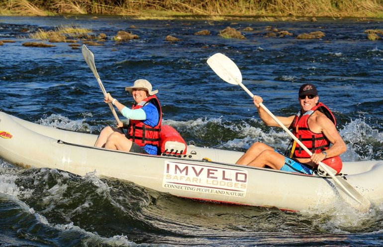 Canoeing the mighty Zambezi Zimbabwe